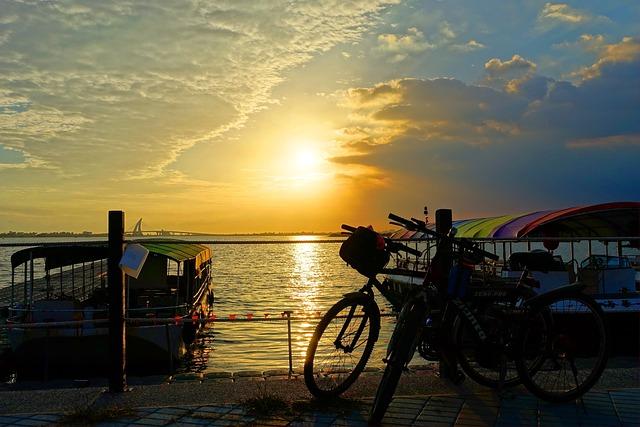 Bicycle, Bike, Sea, Sunset