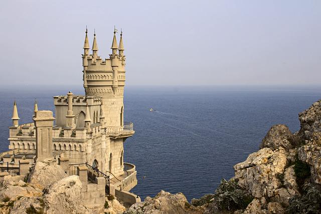 Crimea, Swallow's Nest, Sea, Black Sea, Palace, Yalta