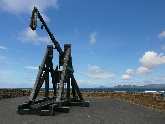Catapult, Sea, Blue Sky