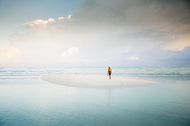 Sandbar, Water, Ocean, Sea, Wave, Nature, Scenic, Blue