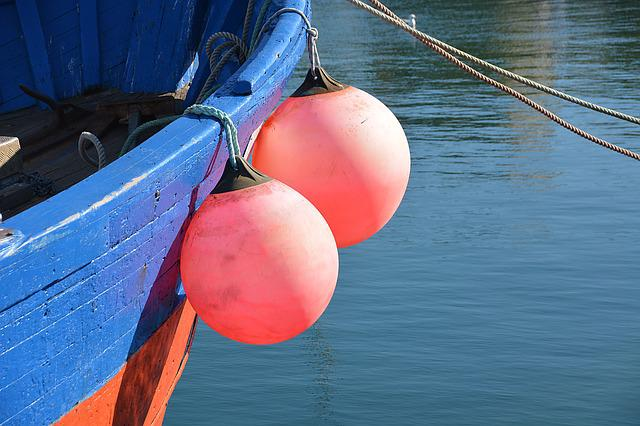 Boat, Starboard, Wharf, Sea, Marine, Buoys, Colors