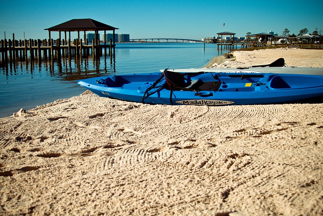 Kayak, Boat, Blue, Ocean, Sea, Paddling, Water Sports