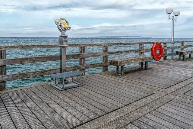 Pier, Sea, Waters, Breakwater, Sky, Baltic Sea, Binz