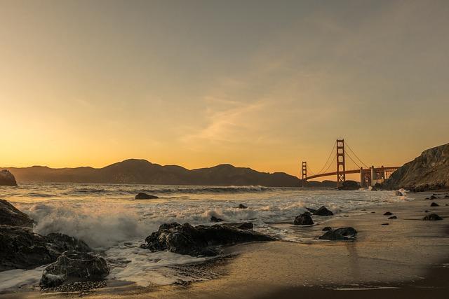 Bridge, Golden Gate Bridge, Sea, Ocean, Sailing Boat