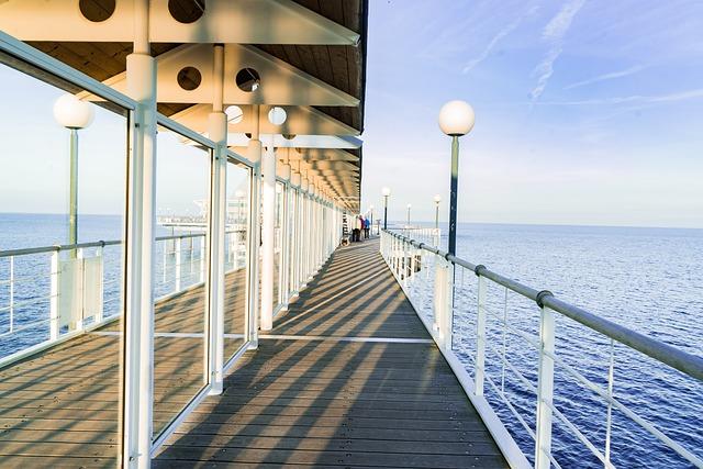 Sea, Bridge, Water, Web, Sea Bridge, Architecture