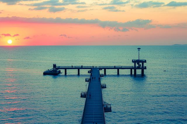 Burgas, Sea, Bridge, Bulgaria, Summer, Landscape