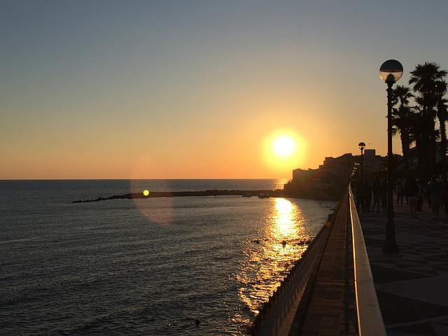 Sunset, Sea, Diamond, Calabria, Sun