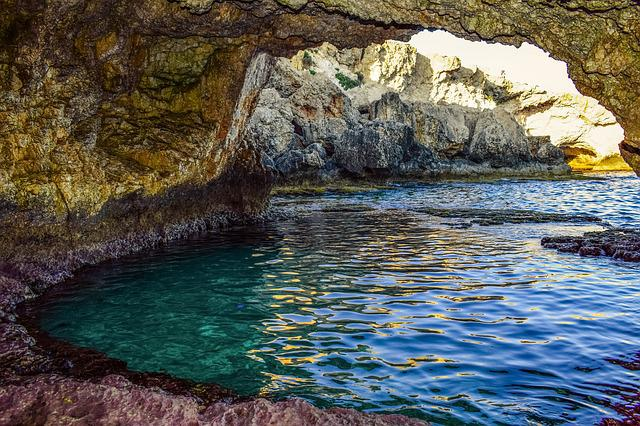 Sea Cave, Natural Pool, Grotto, Geology, Nature