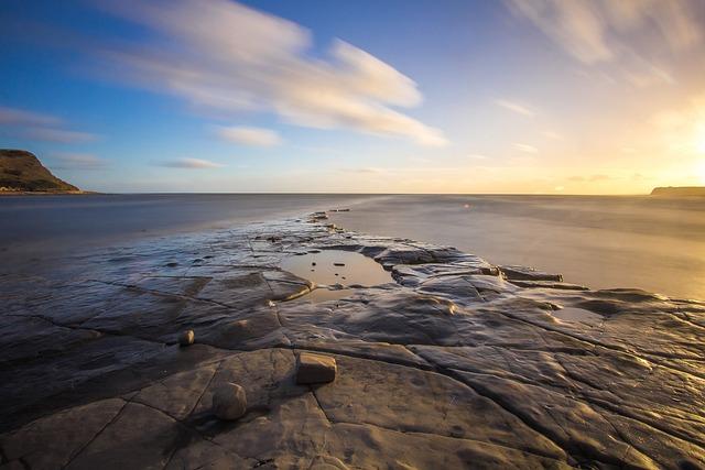 Dorset, Bay, Sunset, Coast, Sea, England