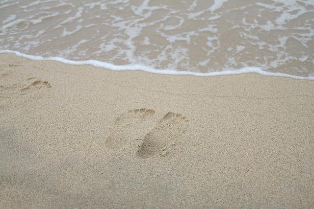 Sand, Beach, Coast, Of Sand, Land, Footprint, Sea, Surf