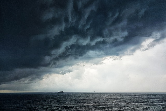 Thunderstorm, Storm, Sea, Thunder, Dramatic, Clouds
