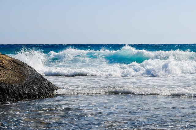 Rocky Coast, Wave, Sea, Blue, Nature, Drops, Spray