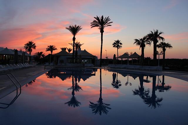 Tunisia, Sea, Journey, Landscape, Sunset, Evening