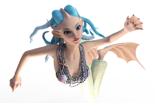 Tentacle, Fantasy, Mermaid, Fins, Fish Skin, Sea, Swim