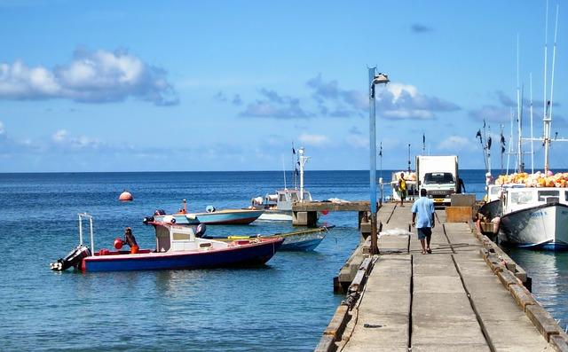 Grenada, Fishermen, Sea, Ocean, Water, Pier, Dock, Men