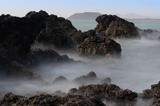 Coast, Sea, Fog, Rocky, Rocky Coast, Rocks, Mist