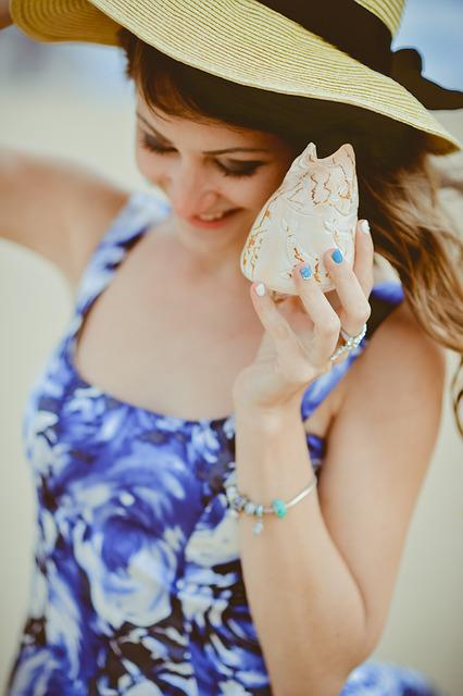 Sea, Sand, Girl, Hat, Coast, Summer, Beach, Model