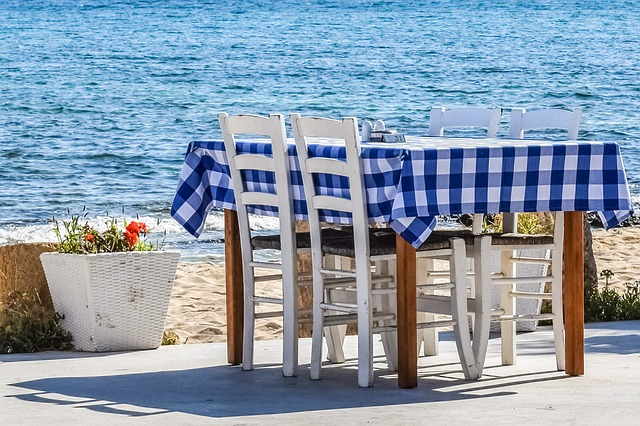 Table, Chairs, Tavern, Taverna, Greek, Traditional, Sea