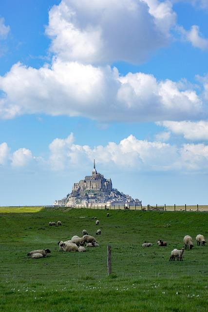 Mont Saint Michel, Sea, Island, Stones, Normandy