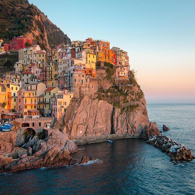 Cinque Terre, Italy, Coast, Sea, Vacations, Colorful