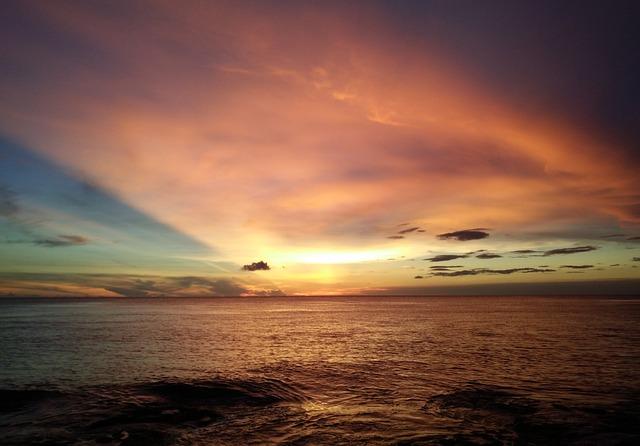 Sea, Sunset, Kenting