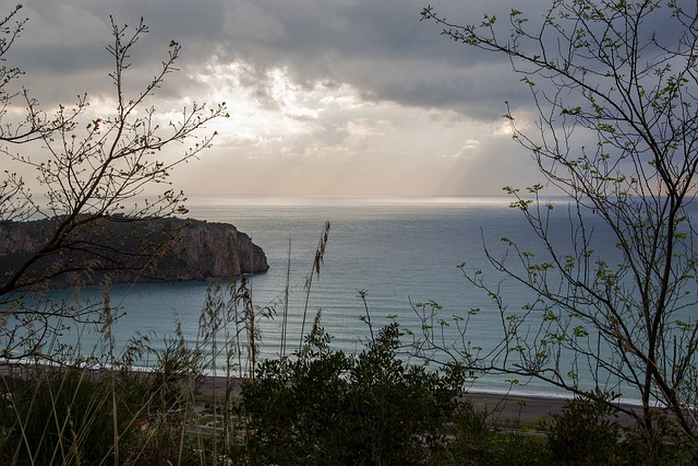 Praia A Mare, Calabria, Italy, Landscape, Sea, Clouds