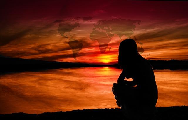 Sunset, Landscape, Sea, Beach, Dusk, Silhouette, Dawn