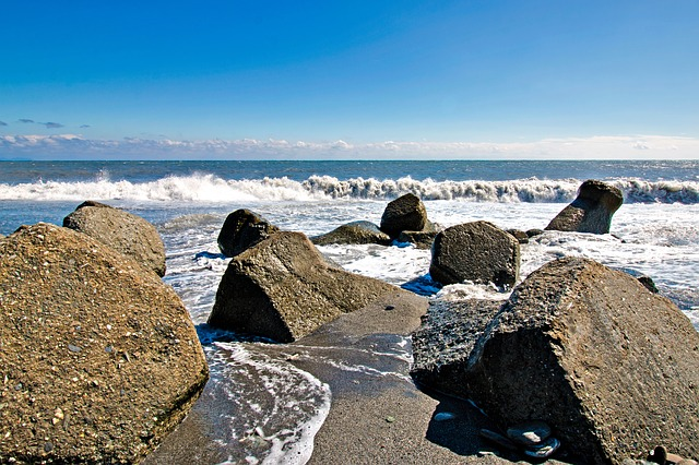 Coast, Sea, Waters, Beach, Rock, Marine, Landscape