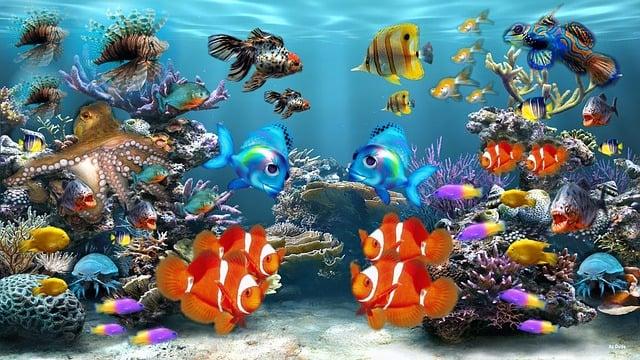 Aquarium, Fish, Fish Tank, Sea Life, Ocean, Corals