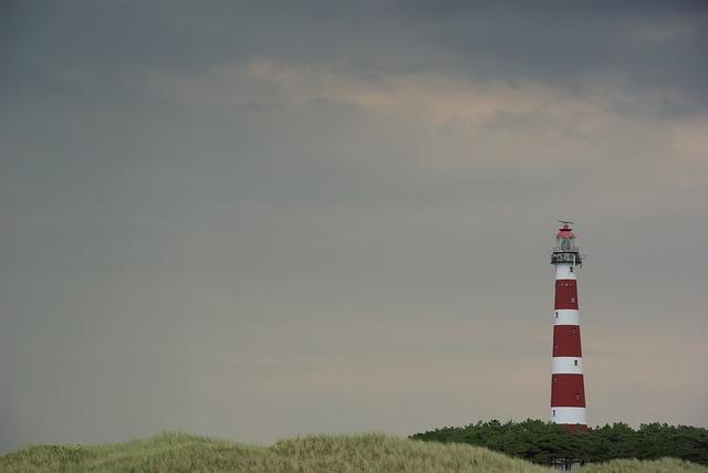Ameland, Lighthouse, Netherlands, Sea, Beach