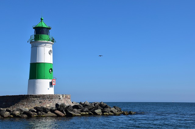 Lighthouse, Sea, Coast