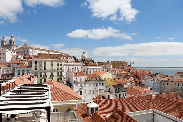 Lisboa, Lisbon, City, Cityscape, Sea, Landscape, Clouds