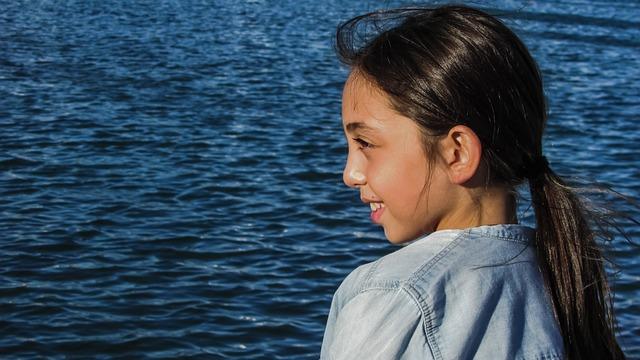 Girl, Looking, Sea, Kid, Child, Outdoor, Leisure