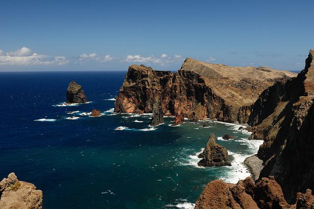Sea, Rock, Surf, Coast, Water, Steinig, Booked, Madeira