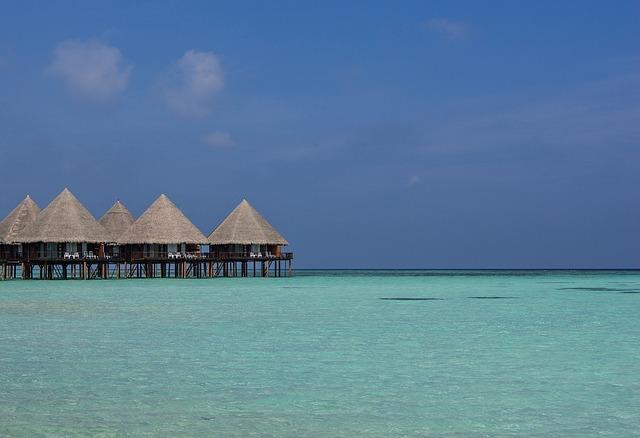 Maldives, Ari Atoll, Sea, Bungalow, Paradise, Beach
