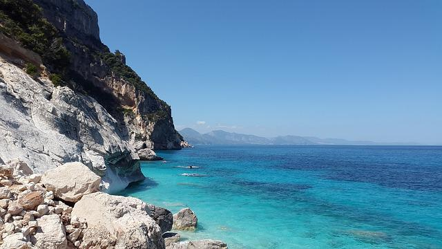 Mediterranean, Turquoise, Sea, Blue, Beach, Coast
