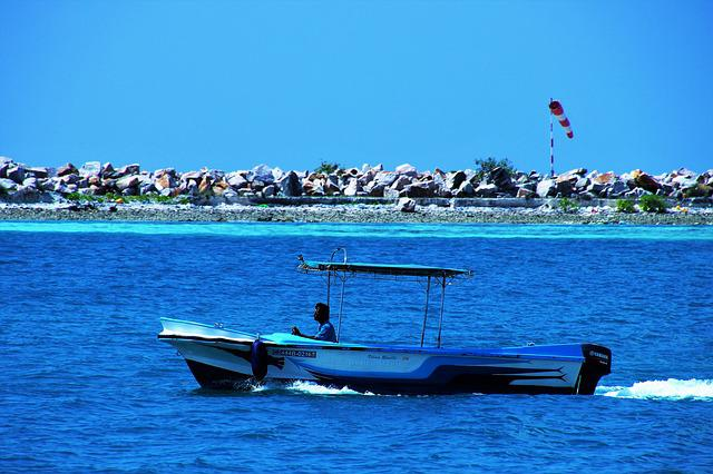 Sea, Maldives, Wind, Monolithic Part Of The Waters