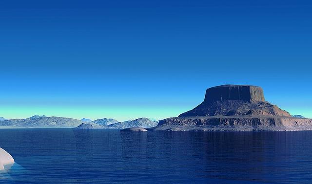 Landscape, Virtual, Sea, Mountains, Voyager, Desert