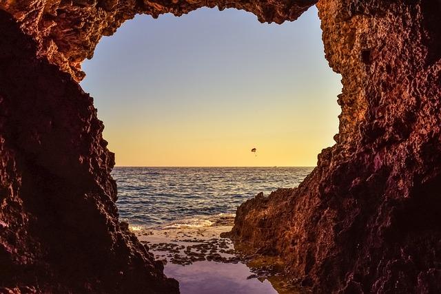 Sea Cave, Entrance, Sea, Nature, Landscape, Hole