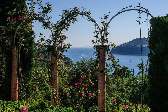 Rose Arch, Sea, Nature, Garden