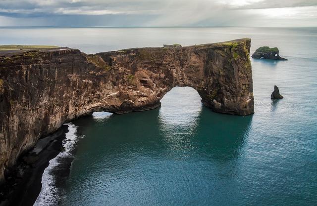 Iceland, Rock, Formation, Sea, Ocean, Water