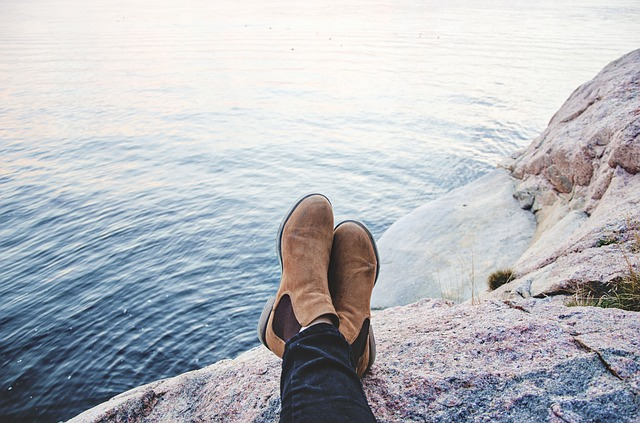 People, Boots, Water, Ocean, Sea, Rock, Chill, Relax