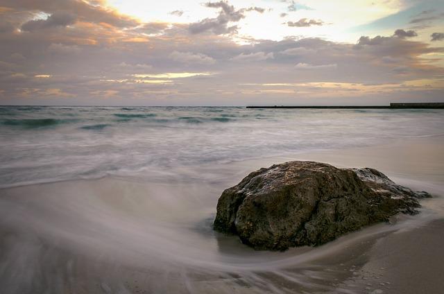 Sea, Stone, Clouds, Black Sea, Odessa, Wave