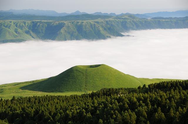 Aso, Komezuka, Sea Of Clouds, Cloud, Kumamoto, Japan
