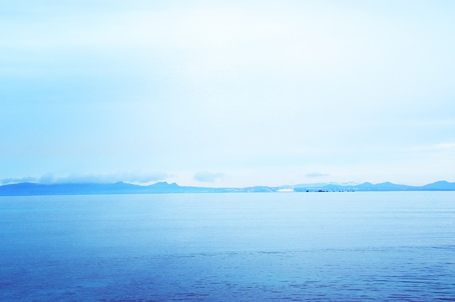 Sea, Okinawa, Fog, Light Blue
