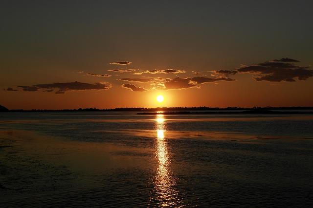 Sunset, Orbetello, Sea