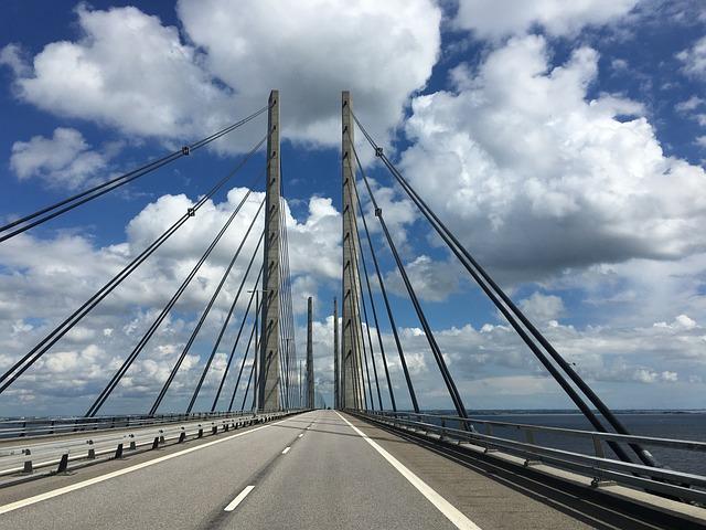 Bridge, Denmark, Sweden, Oresund, Sea, Water