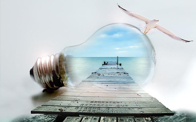 Light Bulb, Seagull, Sea, Web, Pear, Thread, Lamp