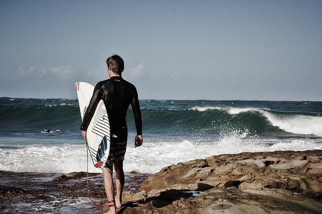 Beach, Man, Ocean, Person, Rocky, Sea, Seashore