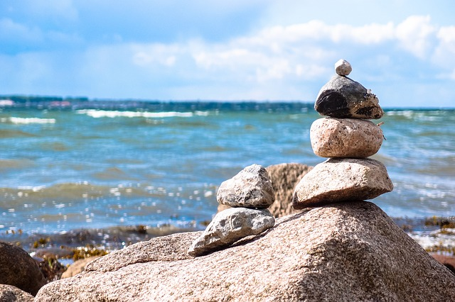 Stones, Stone Tower, Beach, Sea, Relaxation, Balance